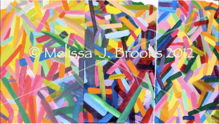 Bright colored blocks. Abstract.
