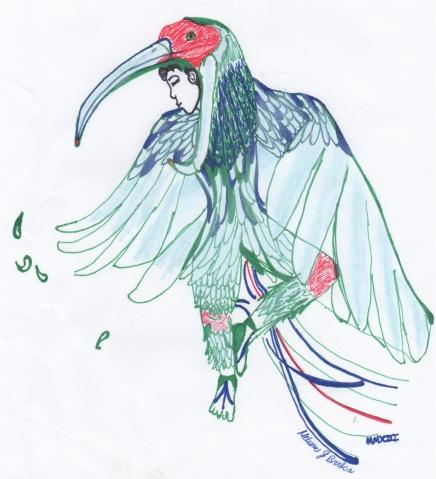 Marker, pen, and color pencil, 2013
