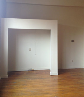 empty room with closet and loft space no doors