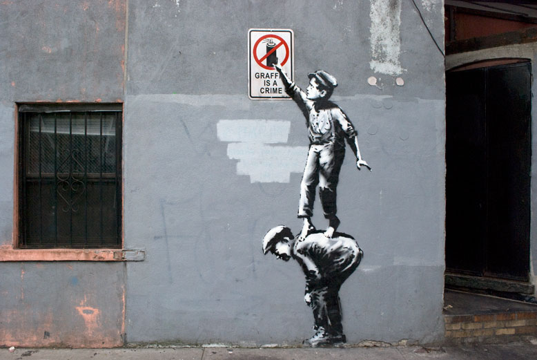 """The Street Is In Play""-- Banksy. Manhattan, New York, NY. USA. October 2013."
