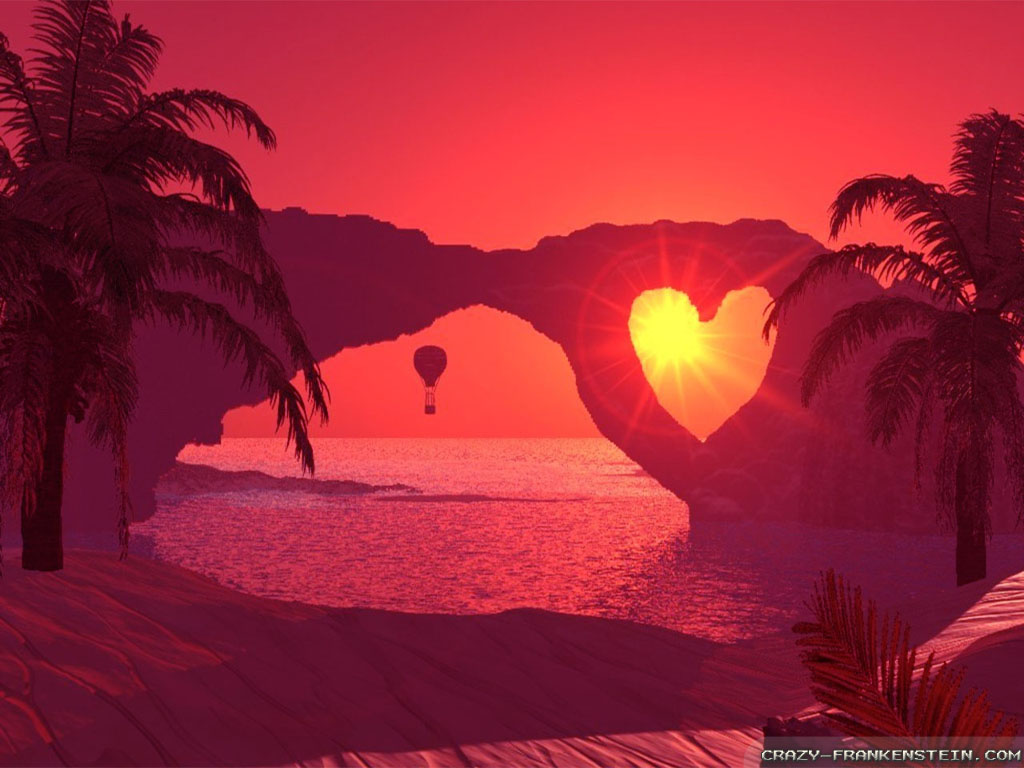 nature wallpapers sunset heart valentine valentines romantic pretty warm natural frankenstein crazy movies amazing word mingle ready